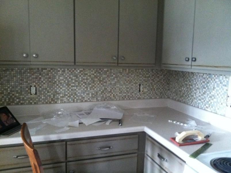 part ii how not to tile your backsplash maebells