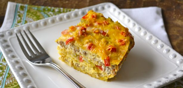 Spicy Sausage Breakfast Casserole