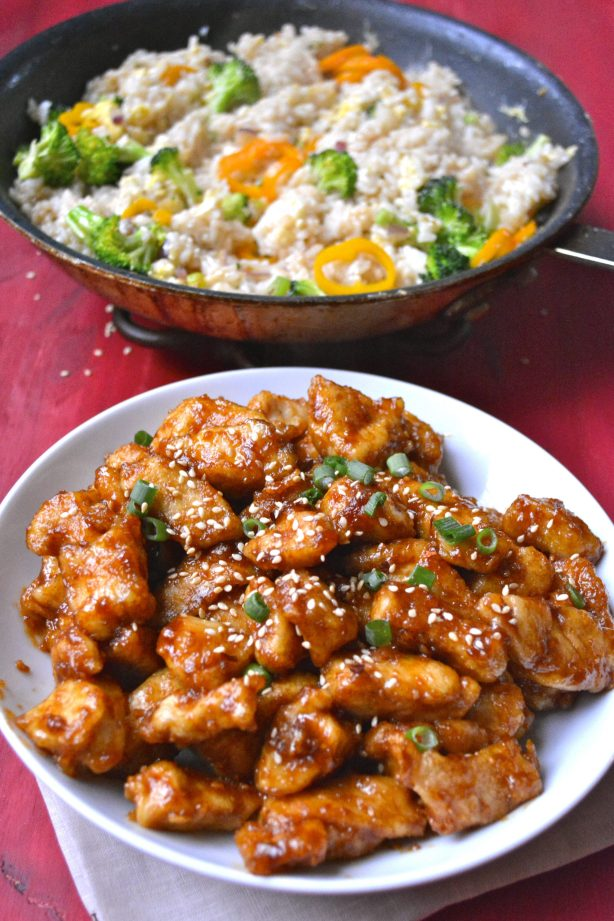 Gluten Free Kung Pao Chicken Take Out Recipe! This spicy chicken is SO much better than take out!