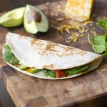 Spicy Spinach and Avocado Quesadilla