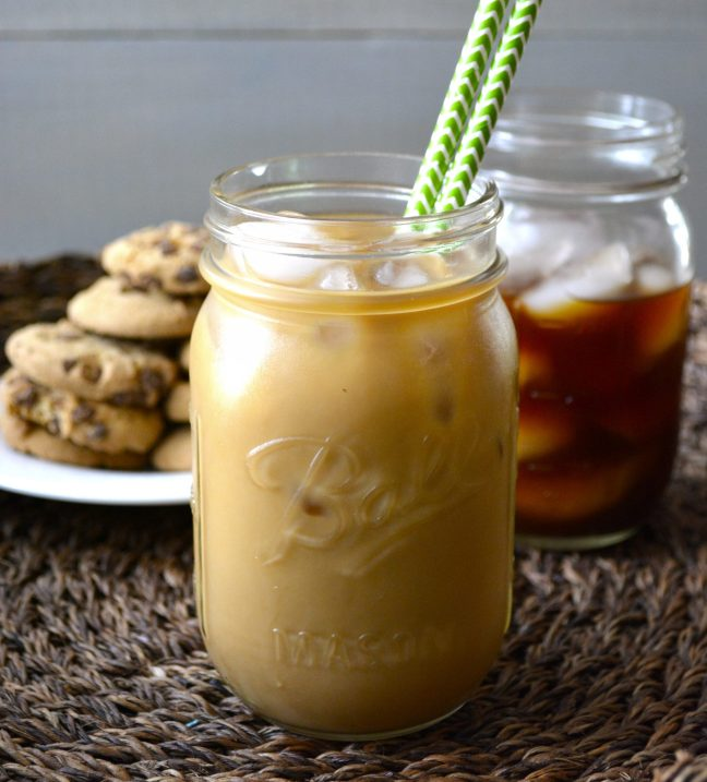 Simple Iced Coffee! This super easy cold brew version is the easiest way to make a big batch of iced coffee!
