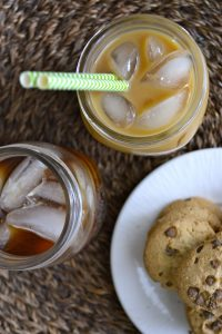 Simple Iced Coffee! This is such an easy way to make a big batch of iced coffee at one time!