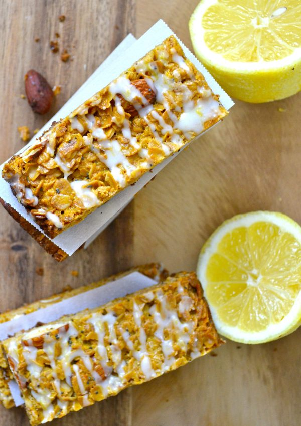 Lemon Poppy Seed Granola Bars