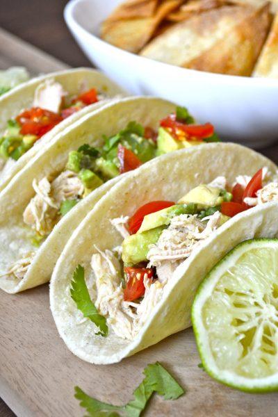 Slow Cooker Zesty Chicken Tacos