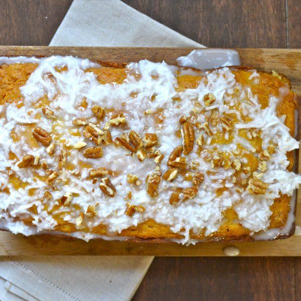 Tropical Mango Bread with Coconut Glaze (gluten free)