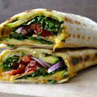 Grilled Zucchini Hummus Wrap + VIDEO