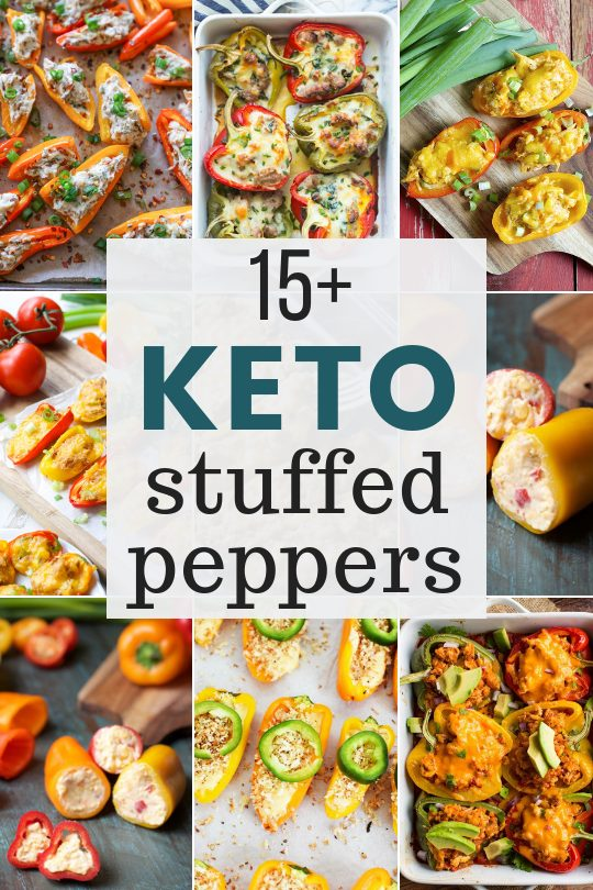These Easy Low Carb Stuffed Pepper Recipes are loaded with flavor and perfect for keeping in line with your keto or paleo diet!