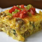 Sausage, Egg and Spinach Overnight Casserole