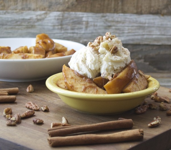 Slow Cooker Pumpkin Spiced Apples, so easy and perfect for fall! www.maebells.com