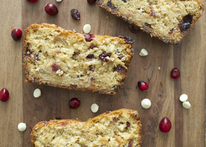 White Chocolate Cranberry Bread! Soft and sweet! www.maebells.com
