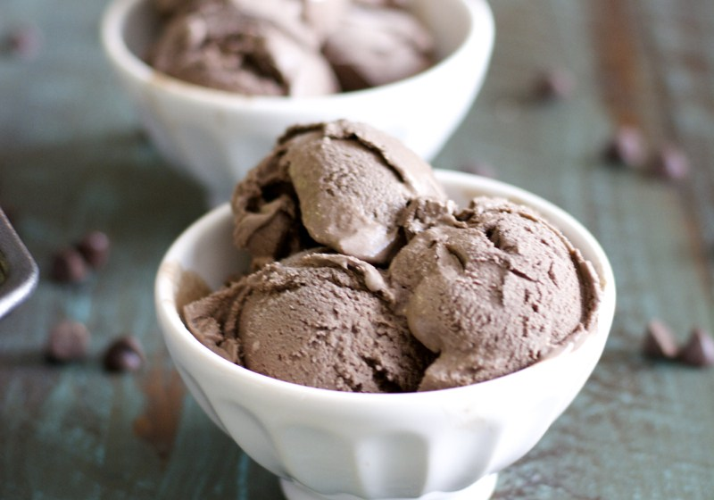 Dark Chocolate Peppermint Ice Cream No ice cream maker needed!! Just a blender and a freezer! Perfect for a simple dessert!