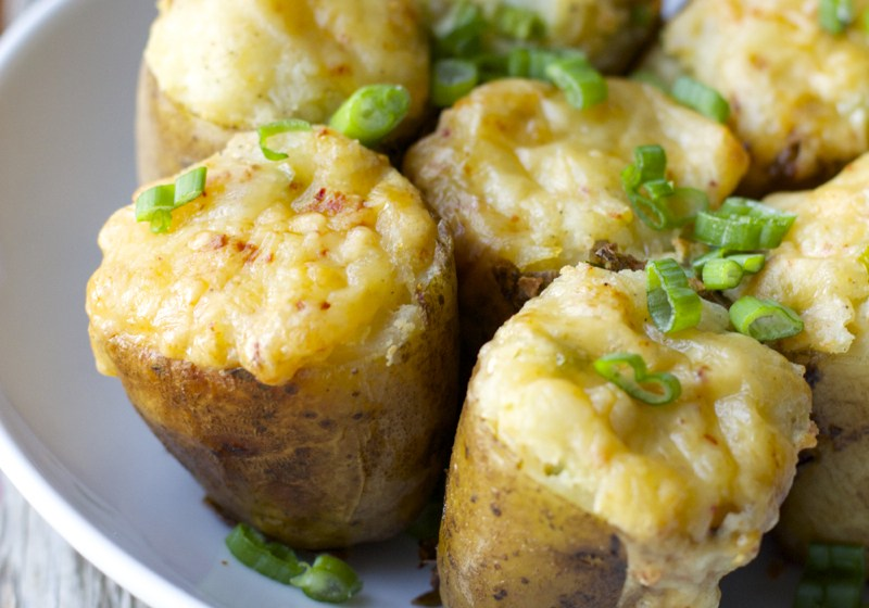 Chipotle Gouda and Jalapeno Twice Baked Potatoes