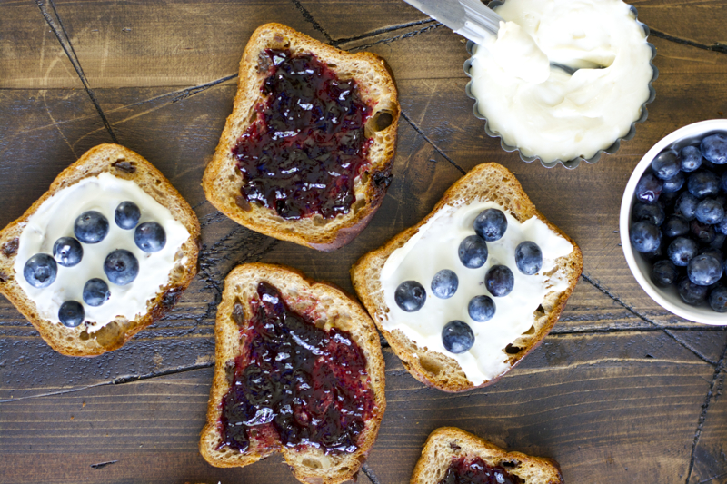 Blueberry Cheesecake Stuffed French Toast Waffles! Seriously the best waffles ever! And really easy!