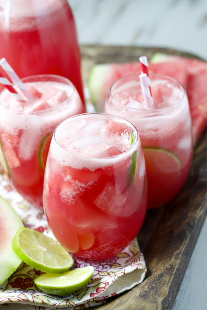 TWO ingredient Watermelon Limeade! The easiest, most refreshing drink ever!