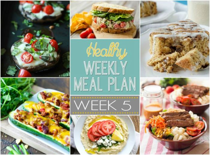 Healthy Meal Plan: Week Five