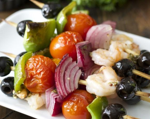 Mediterranean Grilled Shrimp Skewers