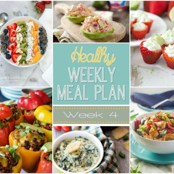 Healthy Meal Plan Week Four