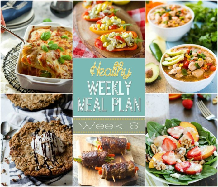 Healthy Meal Plan: Week Six