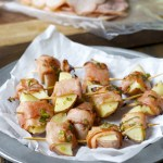 Ham Wrapped Roasted Potatoes with Smokey Honey Mustard