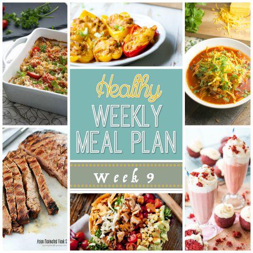 Healthy Meal Plan: Week 9
