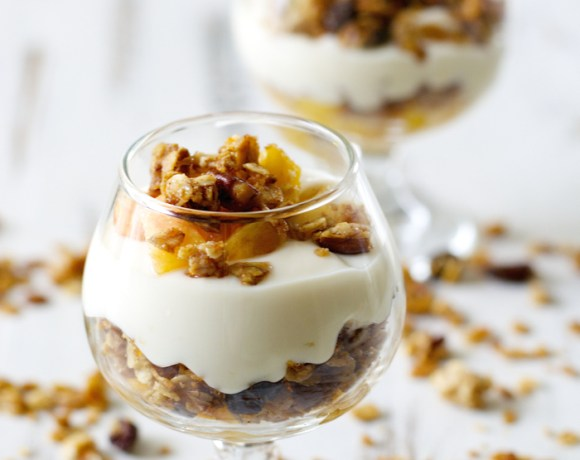 Peach and Cinnamon Pecan Granola