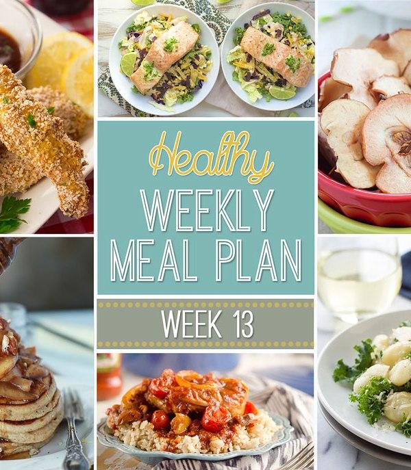 Healthy Meal Plan: Week 13
