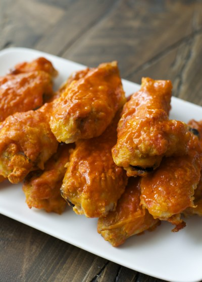 Ultra crispy baked buffalo wings, perfect for game day!
