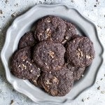 Dark Chocolate Peppermint Cookies (Gluten Free Cake Mix Cookies)