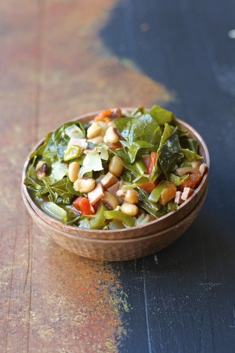 Slow Cooker Spicy Greens and Black-Eyed Peas are the ultimate Southern Comfort food!