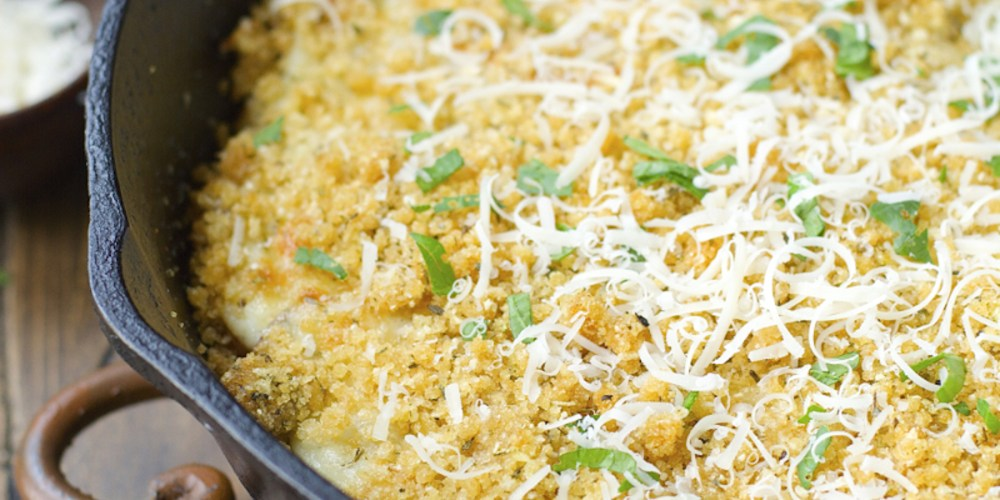 White Cheddar Scalloped Potatoes! An ultra cheesy gluten free side dish you will love!