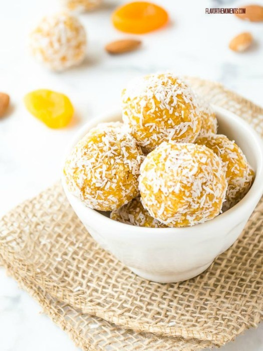 Apricot Almond Coconut Energy Bites