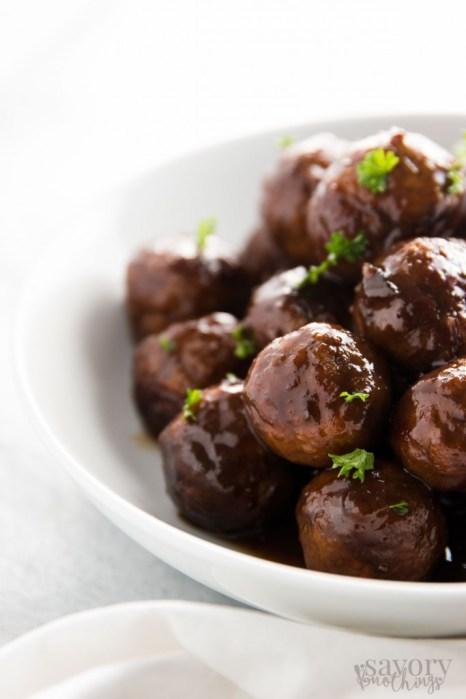 Cranberry Glazed Turkey Slow Cooker Meatballs
