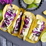 Avocado and Black Bean Fish Tacos with Jalapeño Ranch