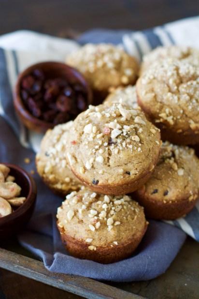 Cinnamon Raisin Muffins with Vanilla Cashew Crumble