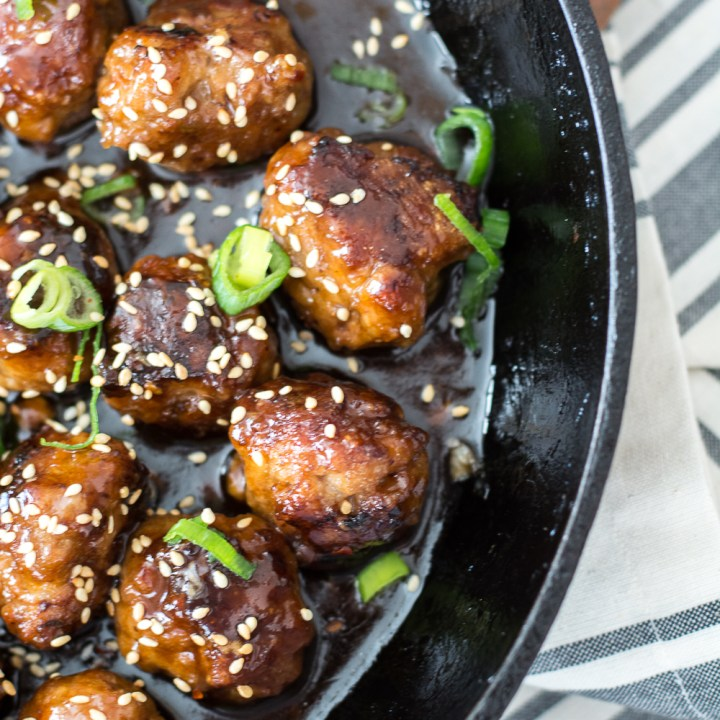 Sweet and Spicy Asian Meatballs