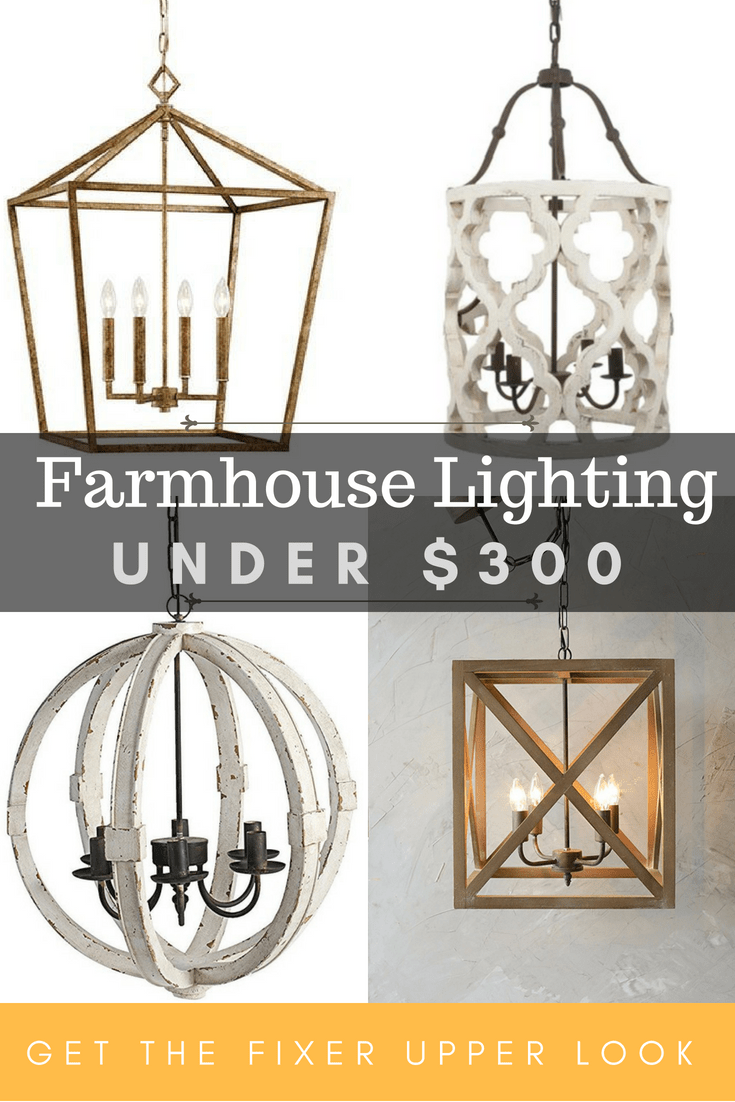 Beautiful and affordable farmhouse lighting get the fixer upper look without breaking the bank