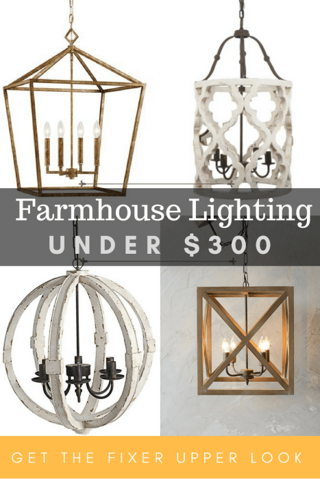 Beautiful and affordable farmhouse lighting! Get the Fixer Upper look without breaking the bank! #farmhouse #fixerupper