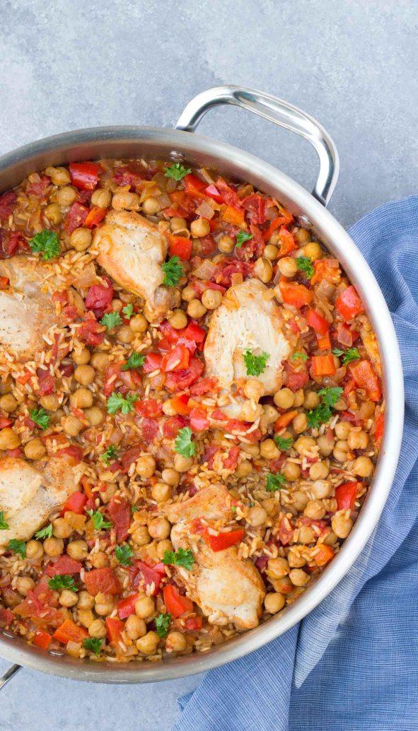 One Pot Spanish Chickpea Chicken