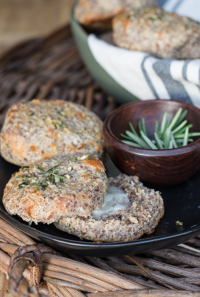 The perfect Rosemary Garlic Keto Dinner Rolls! These rolls are perfect for keto, gluten free holiday dinners and addictive enough you will want them all year long!