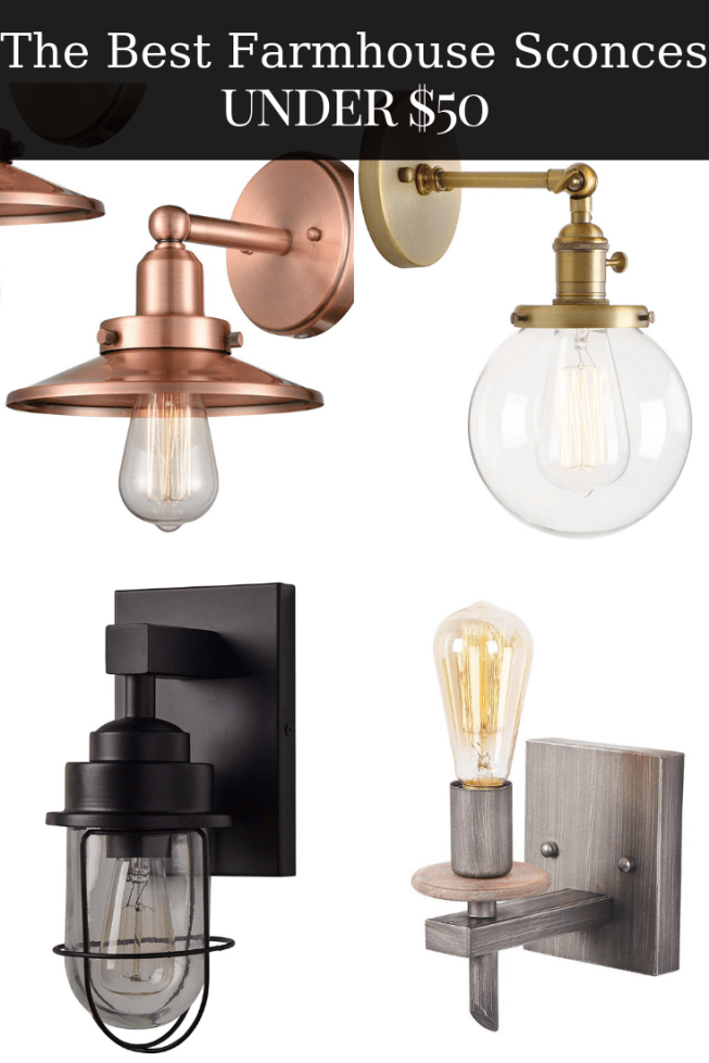 e07ef05f2ee6 The Best Farmhouse Sconces under $50 on Amazon! Affordable #farmhouse style lighting  you will