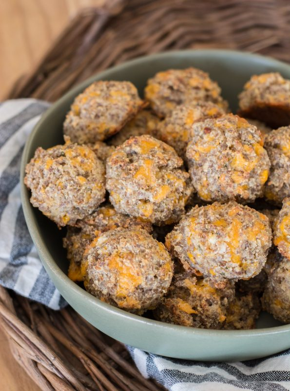 Easy and delicious Cheddar Ranch Keto Sausage Balls are the perfect Keto appetizer! Less than one net carb per ball!