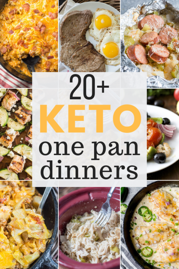 Sticking to your low carb keto diet has never been easier! These one pan keto meals are perfect for busy nights when you just don't have a lot of time or energy!  #keto #onepan