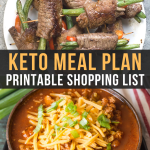 Easy Keto Meal Plan with Shopping List (Week 1)