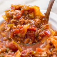 Slow Cooker Cabbage Roll Soup (keto + low carb)