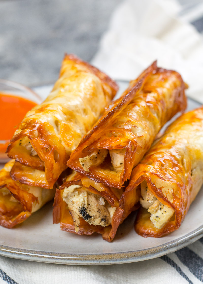 These Keto Buffalo Chicken Taquitos only have three ingredients, can be made in under 10 minutes and have nearly no carbs!