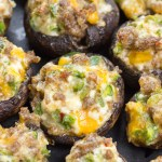 Keto Jalapeno Popper Stuffed Mushrooms