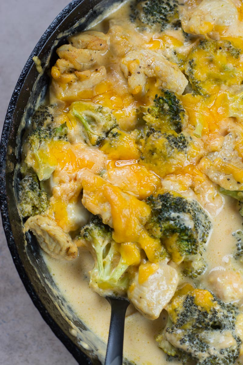 When you need some low carb comfort food try this Keto Broccoli Cheddar Chicken! A one pan, low carb dinner under 7 net carbs per serving.