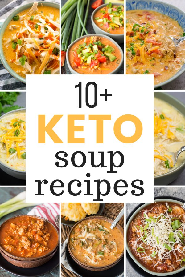 These 10+ Easy Keto Soups are the perfect low carb, comfort foods that will keep you satisfied while sticking to your keto diet!