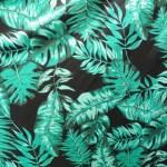 Estampa-folhagem-verde-fundo-negro- Ref 09 00 30 0 04
