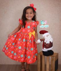 Vestido Natalino Infantil (COD 27.10.19.01)